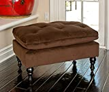 Pouf Ottoman Footstool Chair Living Room Elegant Furniture Eco Friendly Brown