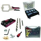 Milescraft Complete Pocket Hole Bundle - PocketJig200, Pocket Screw Kit and Face Clamp