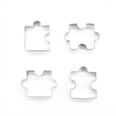 Amazon.com: HUELE - 4 piezas de puzles completos de acero ...
