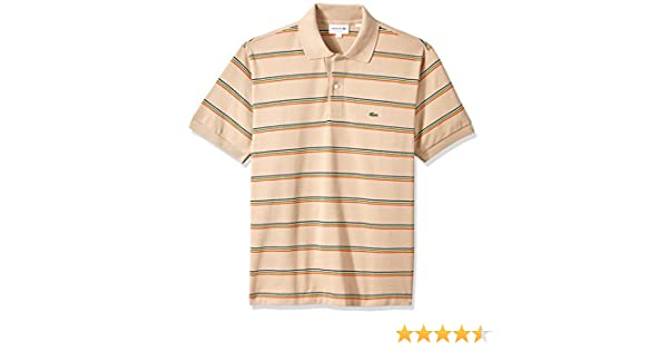 Lacoste Mens Short Sleeve Semi Fancy Petit Pique Slim Polo PH3187