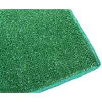 8'X11' - GREEN Artificial Grass Turf Carpet Indoor / Outdoor Area Rug. Premium Nylon Fabric FINISHED EDGES .UV-Protected - weather and Fade-resistant ,100% UV olefin. Light Weight Marine Backing. MANY SIZES and Shapes. Rectangles, Squares, Circles, Half Rounds, Ovals, and Runners.