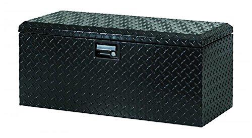 Lund 288271BK 32-Inch Aluminum ATV Storage Box, Diamond Plated, Black Suv Tool Boxes