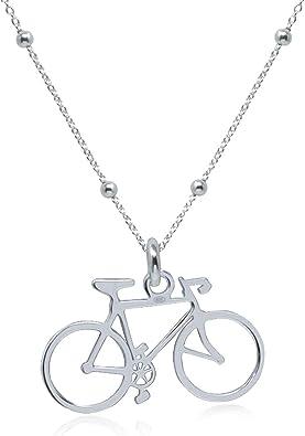 WANDA PLATA Collar con Colgante Bicicleta para Mujer en Plata de ...