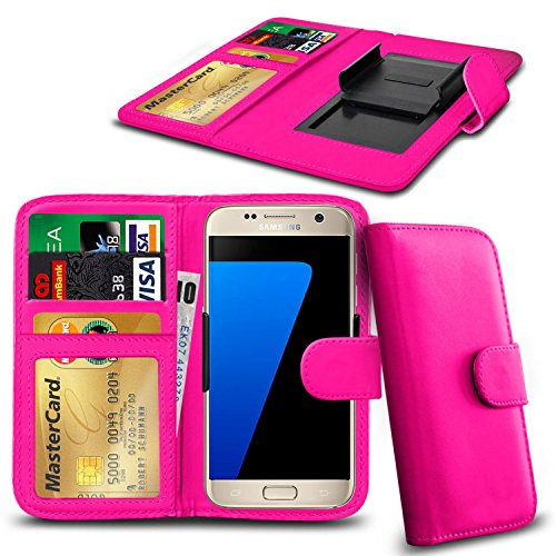 N4U Online® Apple iPhone 4s en cuir PU clip Cover Wallet Case Avec carte de crédit, Notes & ID Slots - Rose