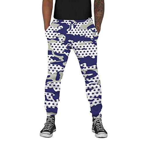 (Loveternal Mens Lightweight Joggers XL Tapered Sweatpants Fun 3D Printed Pants Sport Ative Cool Grey Star Dip Joggers Camouflage Track Pants Girl SweatpantsL)