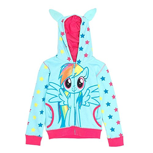 My Little Pony Little Girls Rainbow Dash Stars Zip-Up Hoodie (Juvy Small/4)