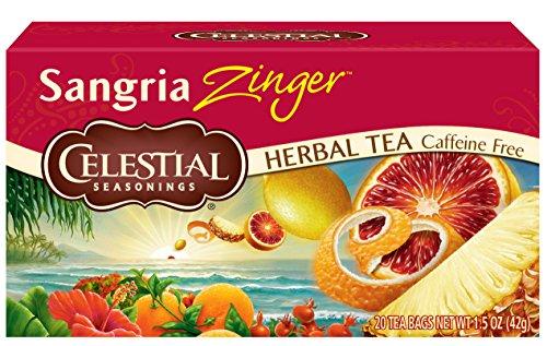 Real Sangria - Celestial Seasonings Herbal Tea, Sangria Zinger, 20 Count (Pack of 6)