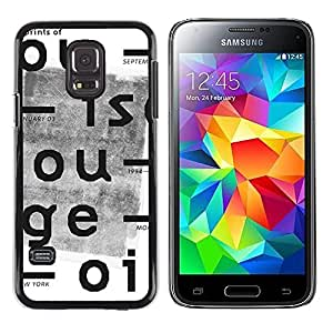 A-type Colorful Printed Hard Protective Back Case Cover Shell Skin for Samsung Galaxy S5 Mini / Samsung Galaxy S5 Mini Duos / SM-G800 !!!NOT S5 REGULAR! ( Newspaper Vintage Typewriter White )
