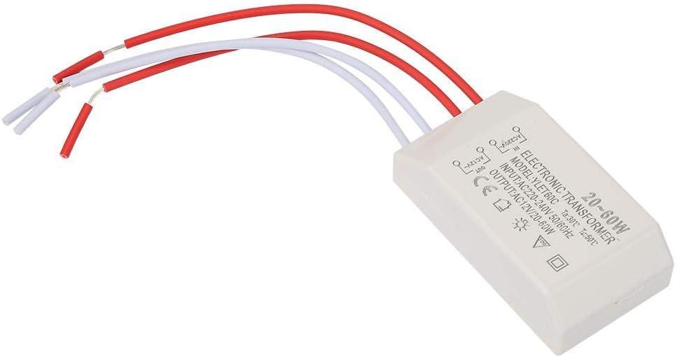 Transformador electrónico AC 220V a AC 12V 20-60W Convertidor de voltaje Controlador de fuente de alimentación inteligente