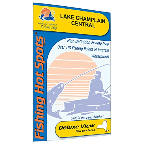 Champlain-Central Fishing Map, Lake (South Hero to Cedar Beach) by Fishing Hot Spots