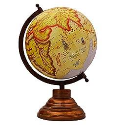 Desktop Rotating Globe World Beige Ocean Earth Geography Table Décor 13\