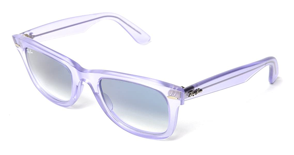 16723c8079 Amazon.com  Ray-Ban RB2140 Original Wayfarer Icons Designer Sunglasses - Ice  Pop Grape Demi Gloss Lilac Clear Gradient Blue   One Size Fits All  Ray-Ban   ...
