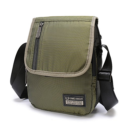 Eco Friendly Messenger (Small Messenger Cross body bag Shoulder Satchel For iPad Tablet Kindle Iphone6 7Plus ,Lanspace Single Strap Sling Pack Organizer)
