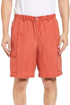 88fd5e6fa3 Tommy Bahama Linen The Dream Elastic Waist Linen Blend Cargo Shorts (Color  Red Sky,