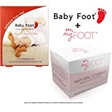 Baby Foot Exfoliant Foot Peel Lavender Scented, 2.4 Fl. oz. and MyFoot Moisturizing Foot Wipe for After Foot Mask Peel with Vitamin E & Aloe