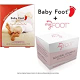 #7: Baby Foot Exfoliant Foot Peel Lavender Scented, 2.4 Fl. oz. and MyFoot Moisturizing Foot Wipe for After Foot Mask Peel with Vitamin E & Aloe