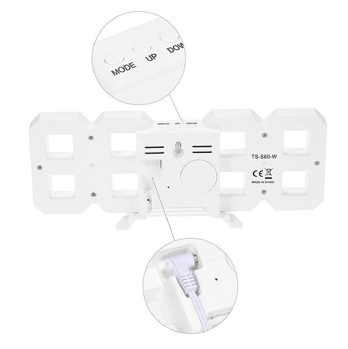 relojes de pared modernos Sannysis despertadores digitales LED (azul): Amazon.es: Hogar