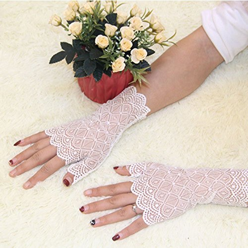 Geometry Dress Party Costume Gloves Prom Lady Women Black Wedding black Lace Bridal Yaw7RnxnEq