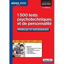 1500 tests psychotechniques et de personnalité, méthode et entrainement