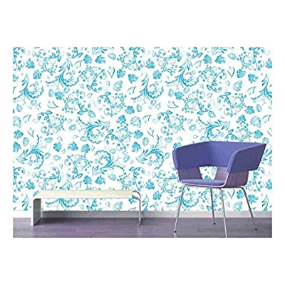 Large Wall Mural Seamless Floral Pattern Vinyl Wallpaper Removable Decorating, With a Professional Touch, Elegant Technique