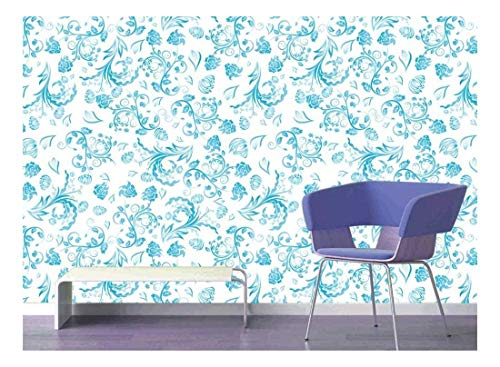 Large Wall Mural Seamless Floral Pattern Vinyl Wallpaper
