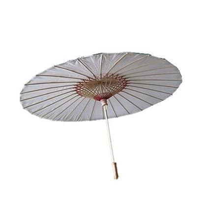 Natthom Paraguas de bambú del paraguas del estilo chino Paraguas del palillo del paraguas chino de