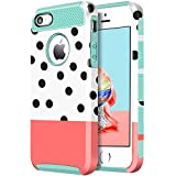 iPhone 5s Case, iPhone SE Case, BENTOBEN [Polka Dot] Ultra Slim iPhone 5 Case Resistant Hard Plastic Shell Flexible TPU Dual Layer Shockproof Bumper Hybrid Protective Covers for iPhone 5 5S SE, Blue