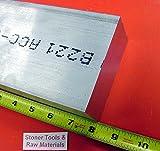 2'' X 4'' ALUMINUM 6061 FLAT BAR 8'' long T6511 2.000'' Plate Solid Mill Stock