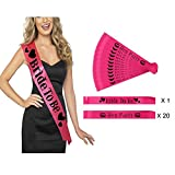 Losuya 21 x Hen Party Sashes Bachelorette Party Kit Wedding Accessory Girls Night Out Decoration Bride To Be Sash