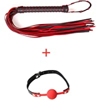 Red/Black Horsewhip + Red Silicone Ball, Harness Kit, Household Kit
