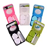 Healifty 5pcs Contact Lens Travel Kit Case Box Container Holder Fish Shaped with Tweezer