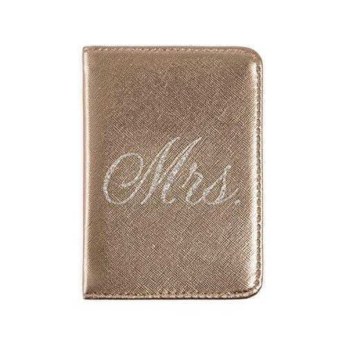 Mirror Mirror Passport Wallets Travel Holder Set: Mr. & Mrs. Slim Waterproof Passport Case Covers & Organizer Slots for ID, Money & Credit Card - Black & Rose Gold by Mirror Mirror (Image #2)