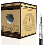 Mediabridge Broadband Coaxial Cable (250 Feet, Black) - Convenient Pull-Out Box - Premium 18AWG RG6 Quad-Shielded Cable - UL Listed CL2 Rated for In-Wall Use (Part# CC6QB-250)