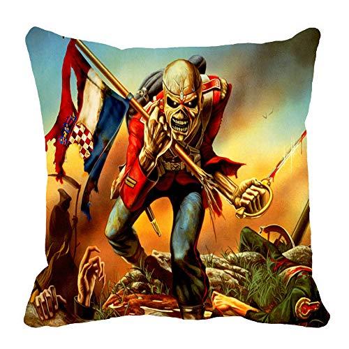 - Iron Maiden Evil Eddie Skull Poster Pillow Case 18 X 18 in