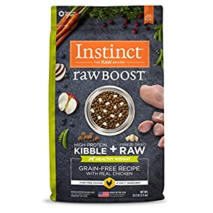 Instinct Raw Boost Healthy Weight Grain Free Recipe with Real Chicken Natural Dry Dog Food by Nature's Variety, 20 lb. Bag