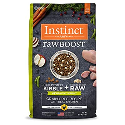 Instinct Raw Boost Healthy Weight Grain Free Recipe Natural Dry Dog Food