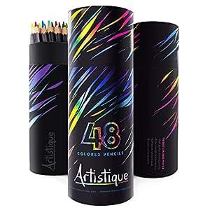 Mature Artist Premium Colored Pencils - Set of 48 - Assorted Colors