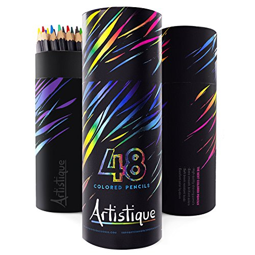 [Artistique Premium Colored Pencils - Set of 48 - Assorted Colors] (48 Color Set)
