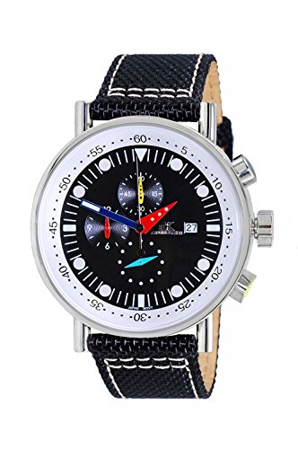 Adee Kaye Men's Quartz Stainless Steel Sport Watch, Color Black (Model: AK2267-10_BK)