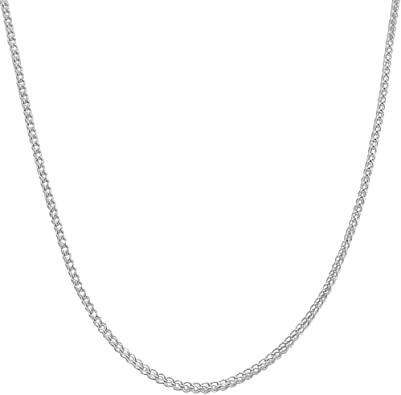 Amazon Com Mcs Jewelry 10 Karat White Gold Franco Chain Necklace 20 26 20 Jewelry