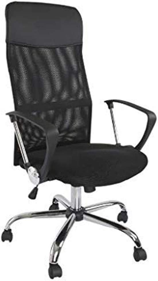 Mahmayi Sarah 4D Mesh High-Back Chair – Black Office Chair With Adjustable Seat Design And Breathable Mesh Backrest- Easy Mobility Castors- Tilt Mechanism- W52 X D49 X H112-120 cm