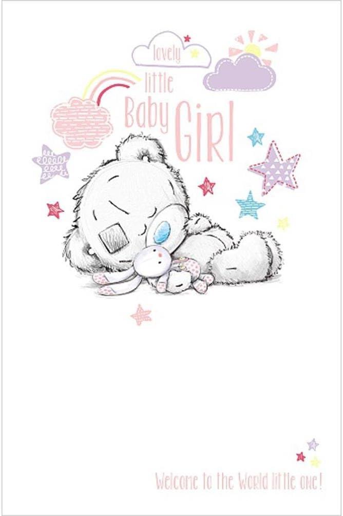 Carte de v/œux Me to You Tiny Tatty Teddy fille Naissance de b/éb/é