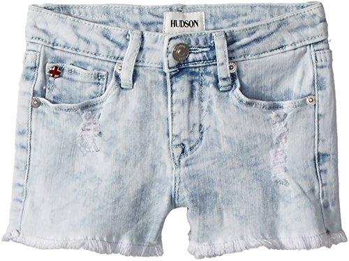 Hudson Kids Baby Girl's Free Love Shorts (Toddler/Little Kids) Bleach 3T by Hudson Jeans (Image #2)
