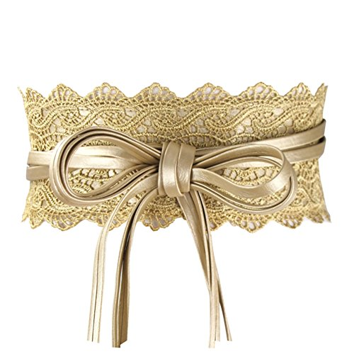 Womens Hollow Lace Wide Belt Cinch Waist Band Embroidery Obi Boho Style Christmas Wedding Dresses Valentine's Day