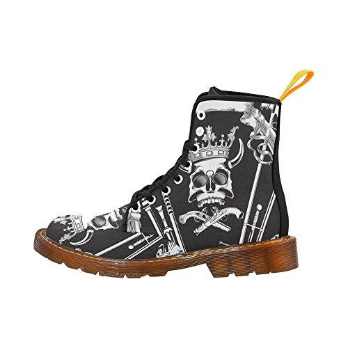 D-story Zapatos Figura Skull Lace Up Martin Botas Para Hombres