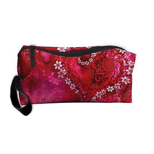 King Fong Valentine's Day Love Makeup Bag Men/Women, Travel Toiletry Bag, Oxford Pencil Case ()