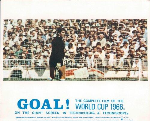 GOAL! THE WORLD CUP 1966 ENGLAND FOOTBALL RARE ORIGINAL LOBBY CARD GOAL KEEPER