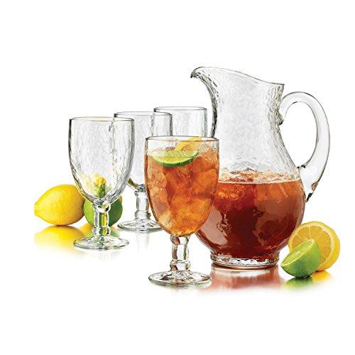 Libbey Yucatan Pitcher & Goblet 5-piece (2.5 Quart Iced Tea)