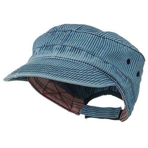 (e4Hats.com Enzyme Frayed Army Caps-Pinstripe OSFM )