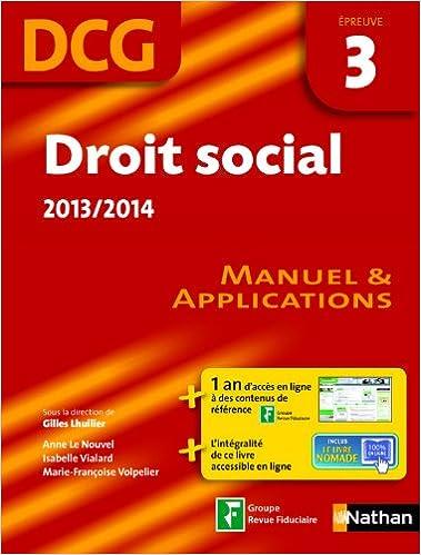 En ligne DROIT SOCIAL EPREUVE 3 DCG MAN pdf ebook